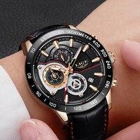 Новый Для мужчин s часы LIGE лучший бренд класса люкс Мужская Мода Бизнес часы Для мужчин Время Дата Водонепроницаемый кварцевые часы Relógio