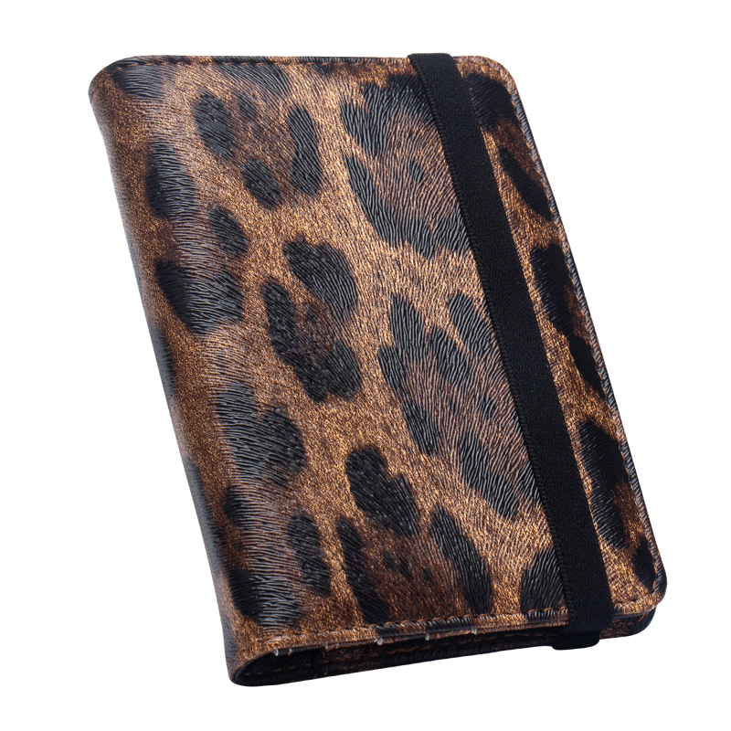 Brown Leopard complex passport cover with bandage waterproof passport holder Built in RFID Blocking Protect personal informationBrown Leopard complex passport cover with bandage waterproof passport holder Built in RFID Blocking Protect personal information
