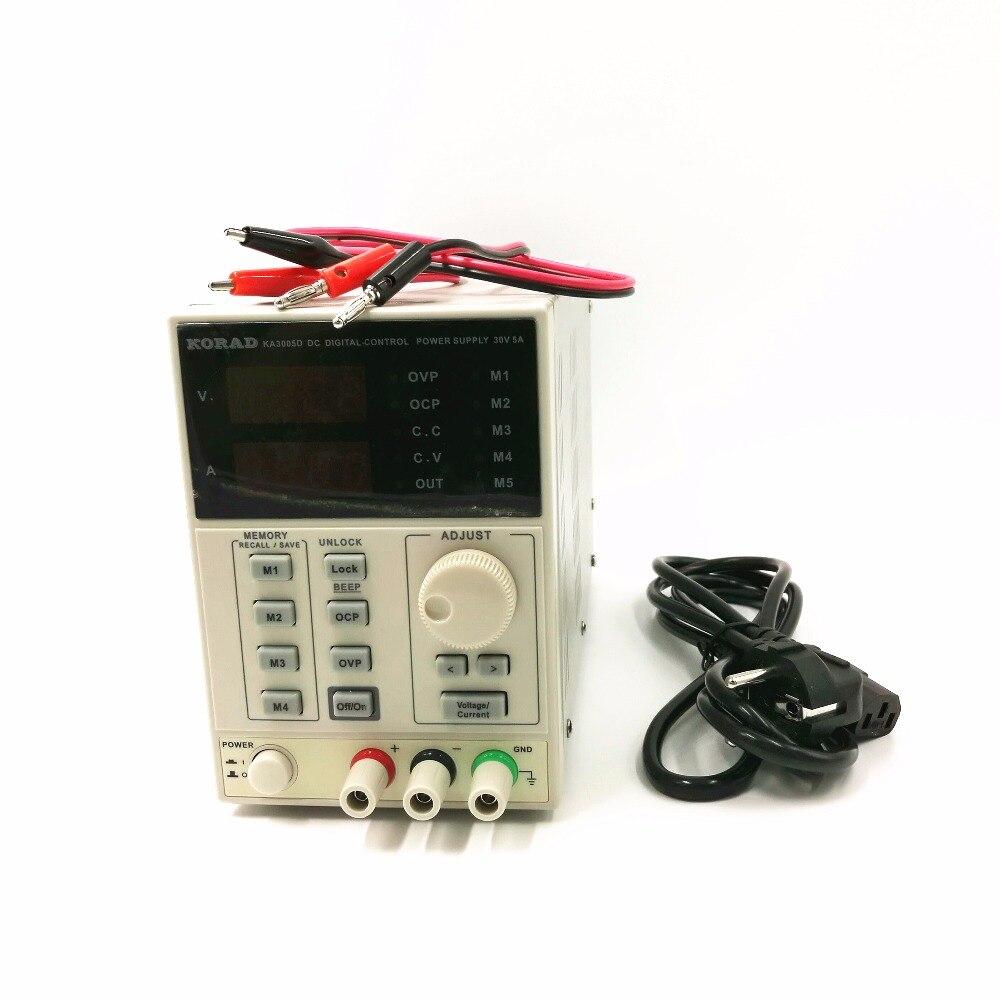 220 В KA3005D высокая точность регулируемый Цифровой DC Питание 30 В/5A для научных исследований лаборатории 0,01 В 0.001A
