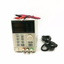 Высокоточный Регулируемый цифровой источник питания постоянного тока 220 В KA3005D 30 В/5 А для лаборатории научных исследований 0,01 в А