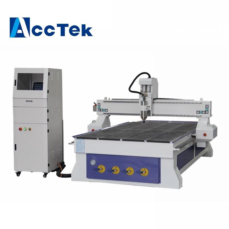 Bureau acctek cnc 4 axe cnc routeur machine avec Mach3 contrôleur/usine cnc métal machine avec axe rotatif