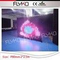 Volle farbe xxx video/bild/grafik decke led vorhang hochzeit dekorationen 2 mt * 2 5 mt led vorhang p80mm-in Bühnen-Lichteffekt aus Licht & Beleuchtung bei