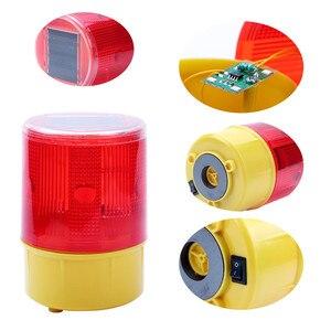 Luz de advertencia LED Solar, baliza luminosa, Faro de bote giratorio, luz de calentamiento, luz Flash, lámpara de alarma para tráfico y carretera