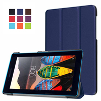 Folding Stand Leather Ultra Slim Protect Case For Lenovo Tab3 7 0 7 Essential 710I 710F