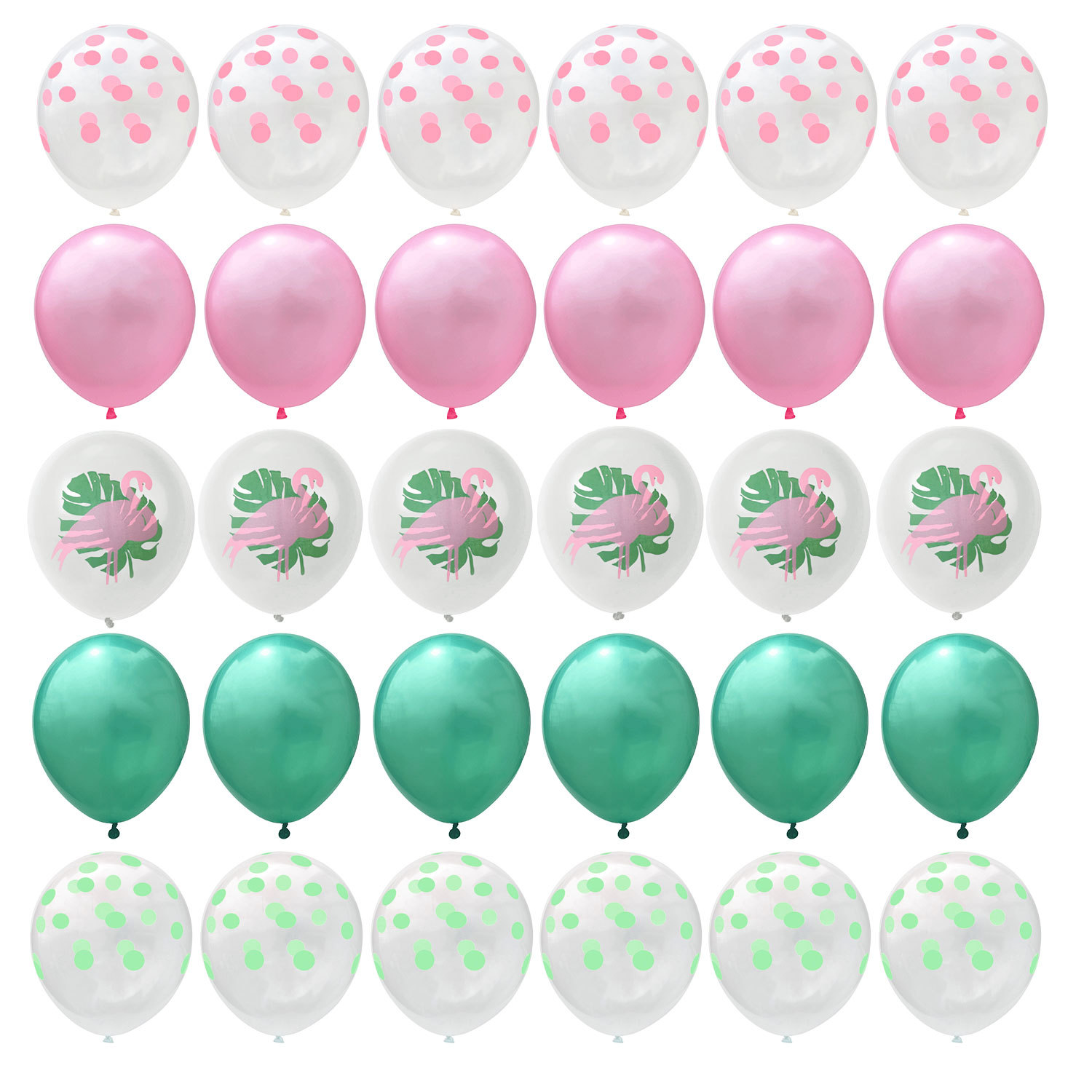 Amawill 30pcs Lot Tropical Theme Party Latex Balloons With Flamingo