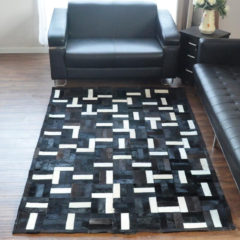 Fashionable art carpet 100% natural genuine cowhide leather silk rugs and carpetsFashionable art carpet 100% natural genuine cowhide leather silk rugs and carpets