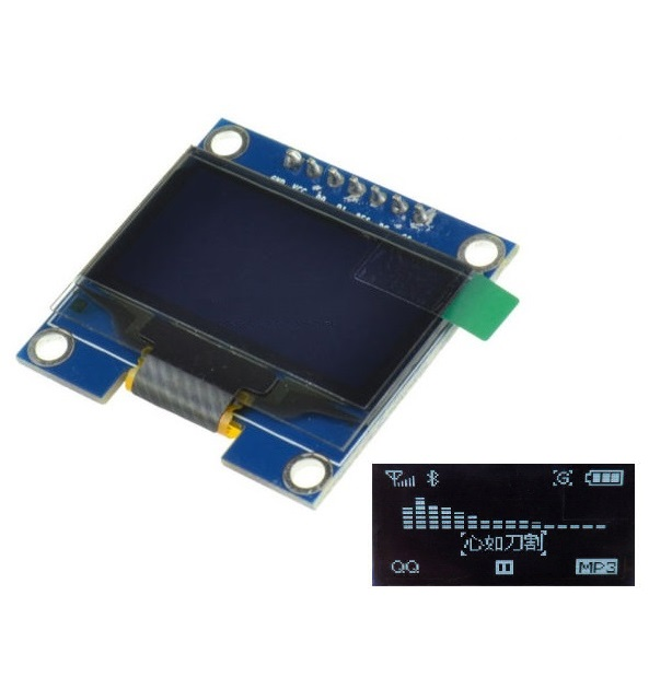 1PCS 1.3 White SPI Serial 128x64 OLED LCD Display Screen Module For Arduino