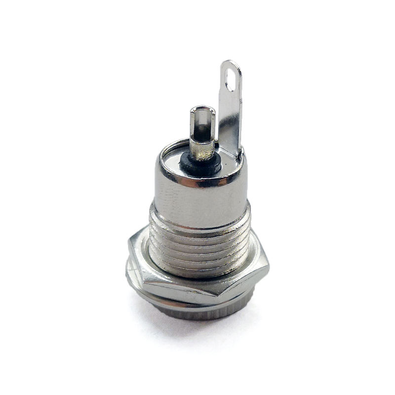 5 5 mm x 2 1mm DC Power Jack Socket Female Panel Mount Connector metal 5 5 2 1 in Chargers from Consumer Electronics