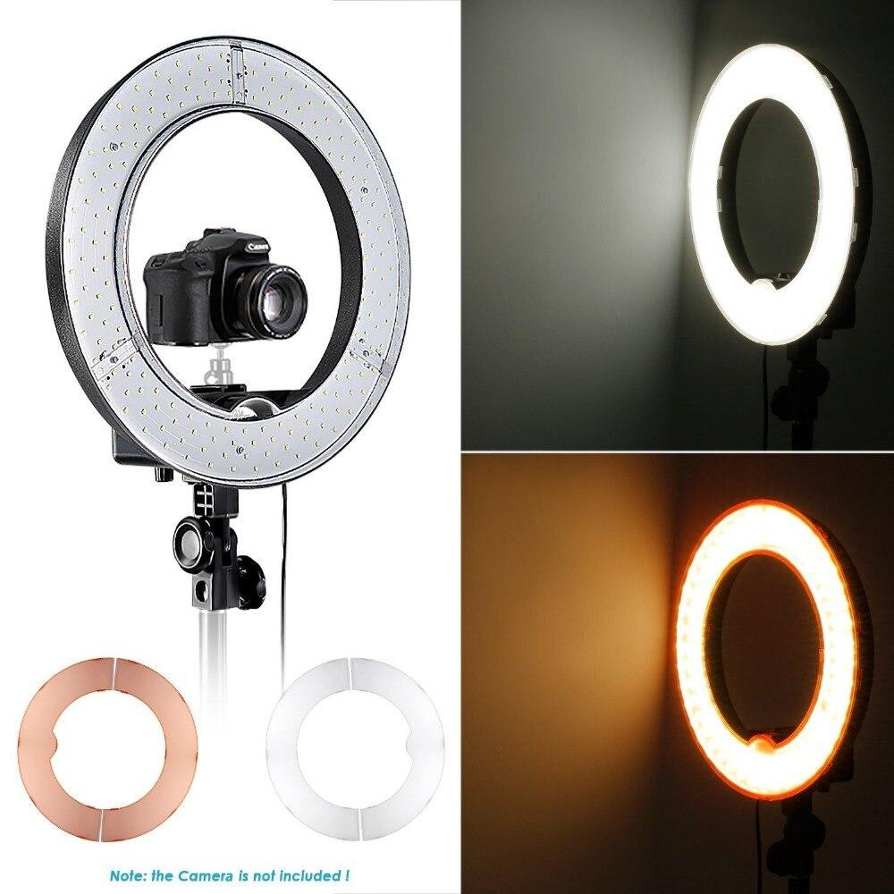 Neewer камера фото/видео светодиодный SMD кольцевой свет 5500 K кольцо с регулируемой яркостью видео свет с пластиковым цветным фильтром и универс... - 2