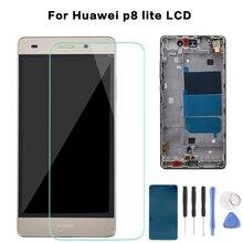 Для Huawei Ascend P8 Lite ALE L04 L21 TL00 L23 CL00 L02 UL00 ЖК дисплей кодирующий преобразователь сенсорного экрана в сборе Замена с рамкой