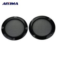 AIYIMA 2 шт. 3 дюймов аудио портативный динамик s черный круг динамик защитная решетка декоративная с DIY для автомобиля звуковая коробка