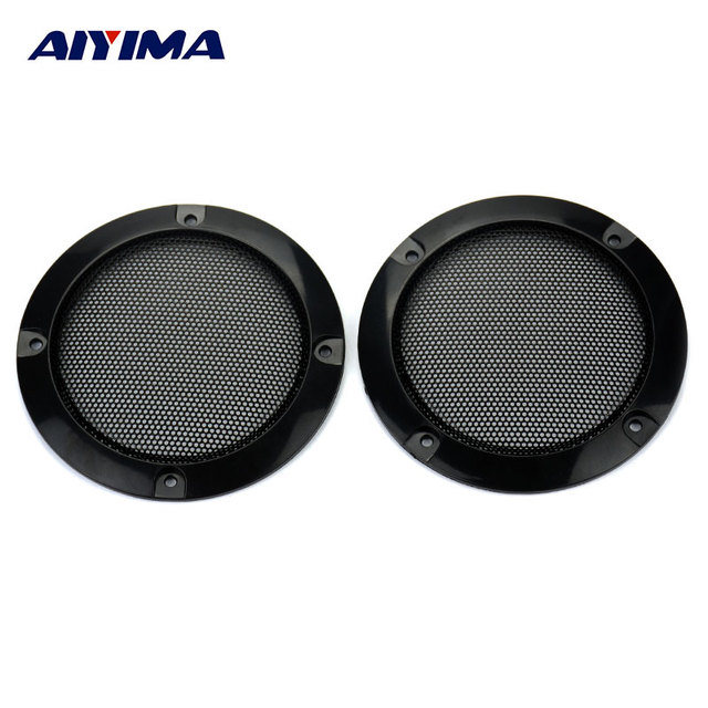 AIYIMA 2Pcs 3Inch Audio Portable Speakers Black Circle Speaker Protective Grille Decorative with DIY for Car sound Box
