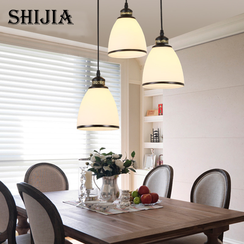 Pendant light Vintage Style lamp European Industrial Wind E14 base droplight for restaurant home decoration Guest