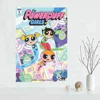 Nice Custom Th Powerpuff Girls Canvas Poster Print painting Art Wall Silk Poster cloth print Fabric Poster Y.122