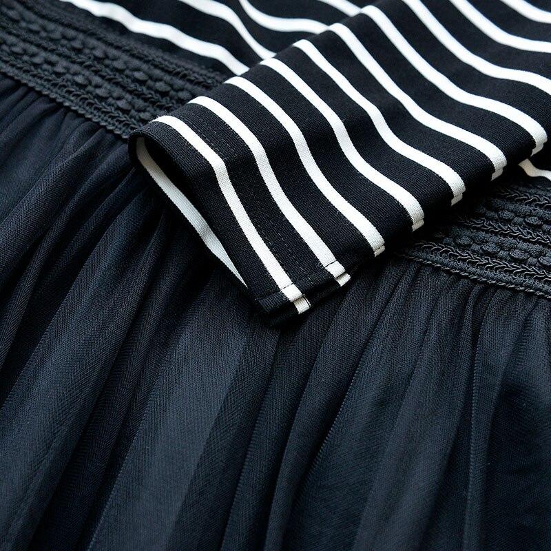 L'épaule Taille Origine Haute Automne Romantique Longue Robe De 2017 Femmes Hors Slash Casual Cou Rayé Nouvelle Maille EERCqpPT