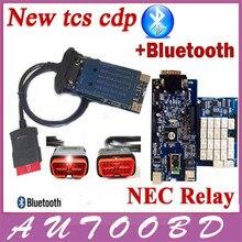 Nueva Fecha de Lanzamiento 2014. R2 TCS CDP Bluetooth Con Chip de NEC Relay Para Vehículos Multimarca Coches Camiones herramienta de Diagnóstico Mejor Que MVD