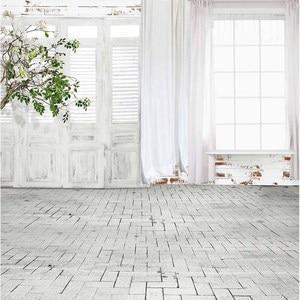 Image 2 - Fond dallenjoy pour les photos arbre chambre porte brique plancher imprimé toile de fond pour une séance photo photocall design original