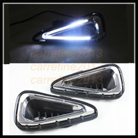 car styling white DRL For Toyota camry 2014 2015 drl led daytime running light drl cover fog lamp For Toyota camry car fog lamp