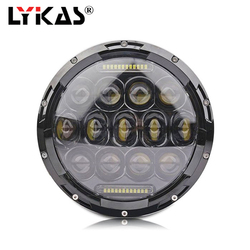 LYKAS 7 Inch Harley Motorcycles LED Headlights H4 H13 High Low Beam Daytime Running Lights 6000K For Jeep Wrangler Offroad Light