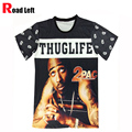 New 2016 Men Brand Casual Printed T Shirt Men's 2pac Rap Rock Hip Hop T-shirts Mens Crooks And Castles Camiseta T Shirts Clothes