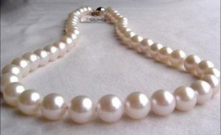 189-10mm natural south sea white round pearl necklace189-10mm natural south sea white round pearl necklace