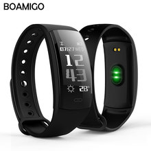 BOAMIGO Smart Watches Bluetooth Smart Bracelet Wristband Pedometer Calories Heart Rate Message Reminder For IOS font