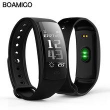 Спорт boamigo умные часы Bluetooth Smart Браслет Шагомер калорий пульса напоминание для iOS телефона Android