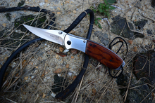 Rosewood Handle Survival Pocket Knife Tactical Knife Sharpest Stainless steel  Folding Knife
