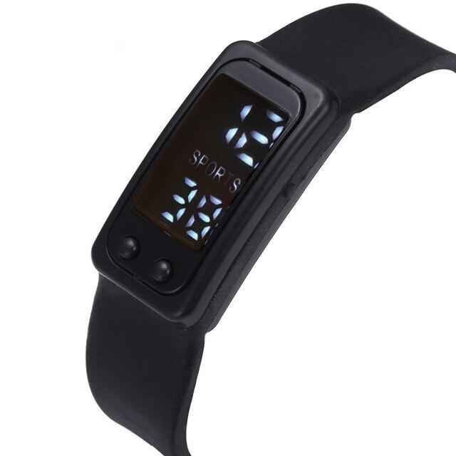 Women Men Sport Watch Run Step Bracelet Watch Pedometer Calorie Counter Digital
