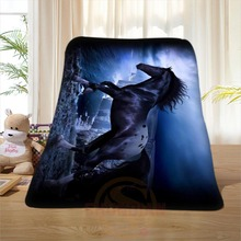 P#133 Custom Horse#42 Home Decoration Bedroom Supplies Soft Blanket size 58×80,50X60,40X50inch SQ01016@H+133