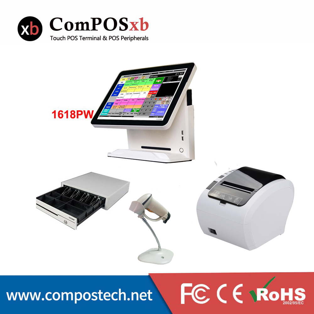 все цены на Nice white POS system 15 inch Touch Screen Billing Machine/All in One POS/ Restaurant Cash Register with Free Shipping