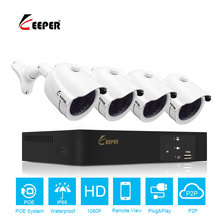 Keeper 4CH POE 1080P NVR CCTV System 2.0MP Outdoor IP Camera HD 1080P NVR Recorder Security Camera Kit Video Surveillance System