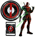 Deadpool Wade Wilson Game X-Men Hero Cosplay Costume Prop Red Black Belt Buckle