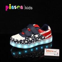 Luminous sneakers untuk Girls & Boys chaussure light up USB Pengisian bayi Bercahaya sepatu dipimpin dengan sandal sepatu glowing cahaya
