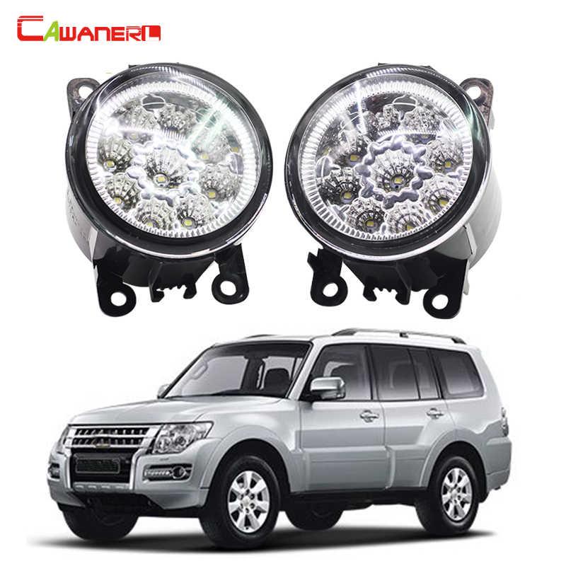 Cawanerl 2 X Автомобильный Стайлинг светодиодный противотуманный фонарь DRL дневного света 12 В для Mitsubishi PAJERO 4/IV V8_W V9_W 2007-2015