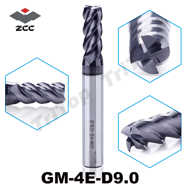 GM-4E-D9.0 cnc router mill for wood and steel stainless steel solid carbide 4 flute 9 mm fresas para madera end mill zcc ct fresas para madera fresas para madera mdf router bit 20pcs 0 1mm 10 15 20 30 degree 3 175mm carbide pcb engraving bits cnc tool
