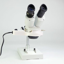 цена на 20X 40x Industrial  Stereo Binocular Microscope with Lamp for Clock watch cellphone Repair tool TX-3A