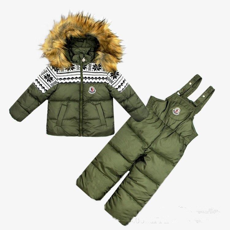 2015 Winter Children Down Cotton Cotton Two Sets Of Skiwear Suit Skiwear ExportTRC3003