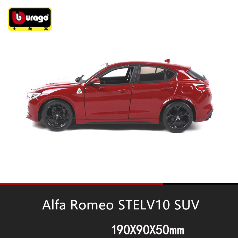 Bburago 1 24 Alfa Romeo STELVIO SUV manufacturer authorized simulation alloy car model crafts decoration collection toy tools in Diecasts Toy Vehicles from Toys Hobbies