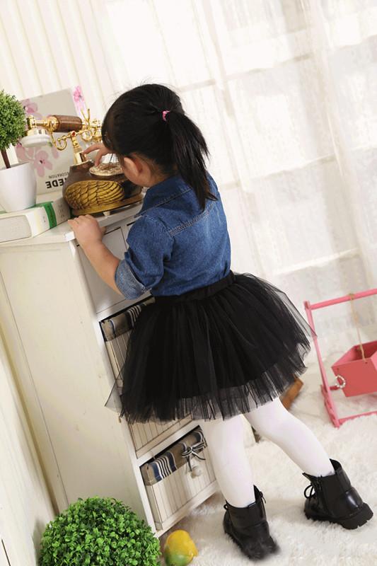 Kids Baby Girls Skirt Kids Cute Ball Gown Dance Pettiskirt Net Veil Skirt Toddler Wedding Party Fluffy Tulle TUTU Skirts black  (2)