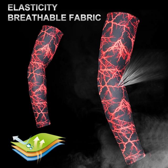 1 pc de alta qualidade secagem rápida proteção uv correndo mangas braço basquete cotovelo almofada fitness armguards esportes ciclismo aquecedores braço 4
