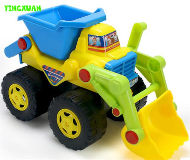 Happyxuan crianças bonito dos desenhos animados brinquedo inércia caminhão de areia de plástico 20*13*11 centímetros de água e areia play diversão ao ar livre para crianças presente