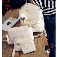 Модные женские маленькие рюкзаки школьные комплект с сумкой для девочек-подростков дамы рюкзак женщины мини-рюкзак Повседневная Женский рюкзак путешествия
