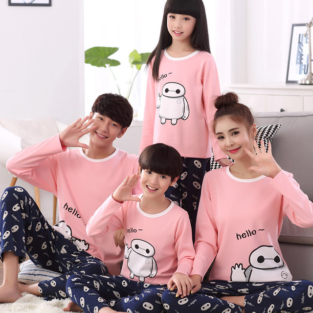 05f383dc0e Boys Pajamas Family Matching Pajamas Mother Daughter Clothes Pyjamas Father  Son Night Wear Suits 2pcs Parent Kids Sleepwear