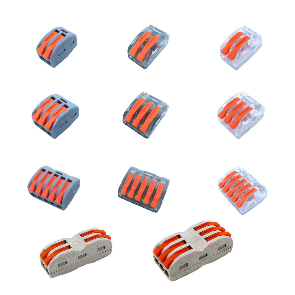 Wago Type Mini Fast Wire Connectors 2 3 4 5 8 Pin Cage Spring Universal Compact Wiring Conductor Terminal Block For Line ChinaWago Type Mini Fast Wire Connectors 2 3 4 5 8 Pin Cage Spring Universal Compact Wiring Conductor Terminal Block For Line China