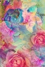 Красочные Винтаж романтический цветок фон винил ткань высокого качества Компьютер Отпечатано Свадебная фотостудия фон