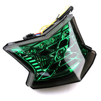 Three Color Lenses Motorcycle LED Tail Light Assembly Moto Brake Turn Signal Lamp For Kawasaki Z900