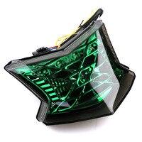 Three Color Lenses Motorcycle LED Tail Light Assembly Moto Brake Turn Signal Lamp For Kawasaki Z900