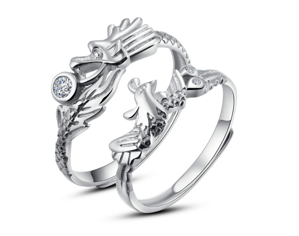 fnj silver bird phoenix original handmade itm sterling animal thai rings fashion women ring for new jewelry viking