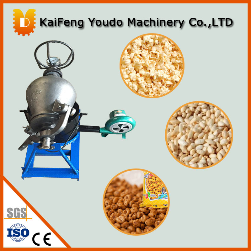 1.5kg/time Whole Set Old type hand popcorn puffing machine/Rice puff machine/grain puff machine(with burning stove) rollercoasters the time machine